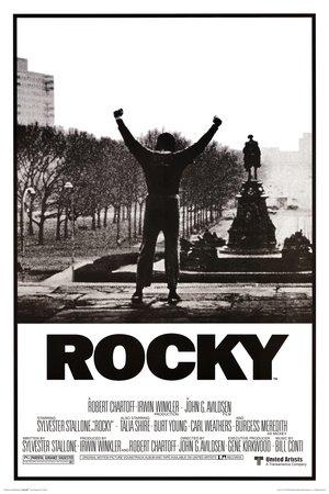 Poster Rocky – Affiche du film – Bras levés -