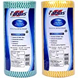 Fablas Non-Woven Mulitpurpose Kitchen Towel Roll 80 Pull (Pack of 2)