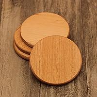 Minz Posavasos de madera con almohadillas de aislamiento para mesa, decoraciones, redondo, cuadrado