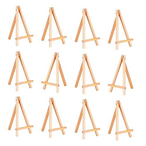 12 Stück Mini Holz Display Staffelei, 6,25 Zoll