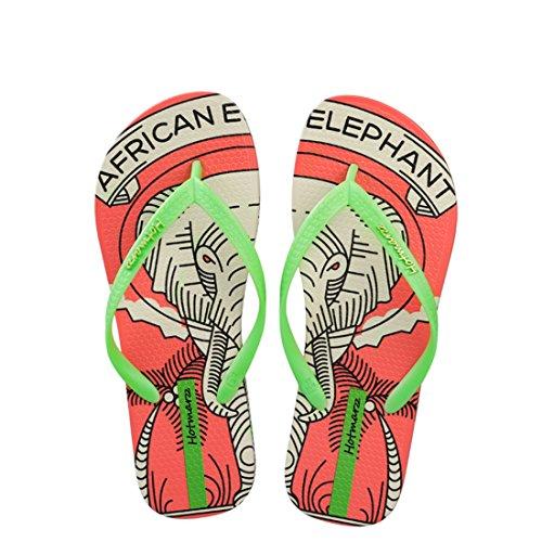 Hotmarzz Damen Mode Sommer Strand Hausschuhe Elefant Tier Flach Zehentrenner Sandalen Rutschen Spa Dusche Zuhause Schuhe Size 38 EU/39 CN, - Elefanten-dusche