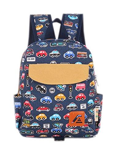 La-vogue-Kinderrucksack-Kindergartentasche-Kindergartenrucksack-Mini-Backpack-Print-Auto