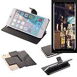 K-S-Trade Schutz Hülle für Bluboo S8 Schutzhülle Flip Cover Handy Wallet Case Slim Handyhülle bookstyle schwarz