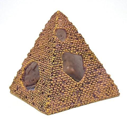 K&C Petit ornement de résine décorative Pyramid