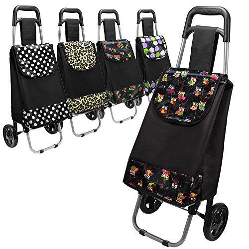 LARGE CAPACITY LIGHT WEIGHT WHEELED SHOPPING TROLLEY PUSH CART BAG WITH WHEELS PATTERN DESIGN Test