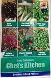 Collezione di Semi per la Cucina dello Chef - Basilico, Pak Choi, Dolce Basilico, Lattuga, Pomodoro Ciliegino & Prezzemolo