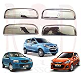 #2: RedClub Car Door Handle Catch Covers (Chrome)[Made in India] for Alto Old, Alto K10, Alto 800 with Complementary RedClub Pen