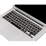 "Heartly Premium Soft Silicone Keyboard Skin Crystal Guard Protector Cover ForApple MacBook Retina Display 12 "" inch A1534 - Rugged Black"