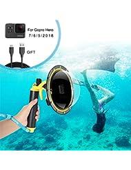 FEIMUOSI Porta GoPro Dome per GoPro Hero 6 5, Custodia impermeabile per GoPro Accessorio con pistola a scatto e copertura subacquea Custodia per fotografia subacquea