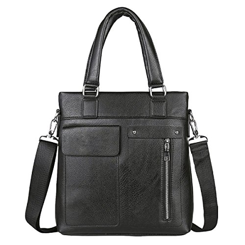 Männer Retro - Modegeschäft Aktenkoffer Vertikale Absatz Freizeit Computer Tasche Messenger Bag Black