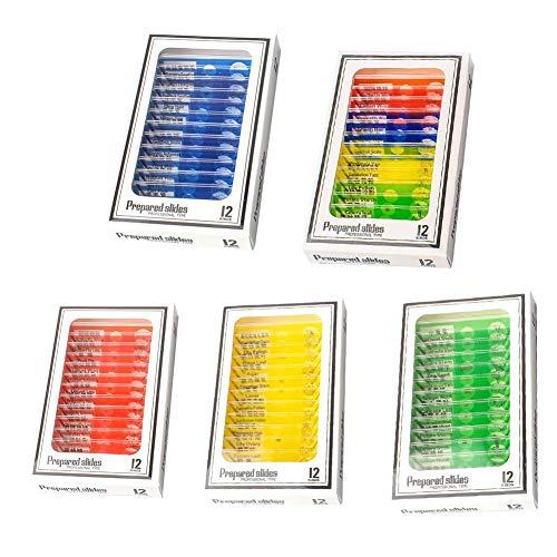 Zay - 60 Piezas de Diapositivas de biología básica preparadas para m