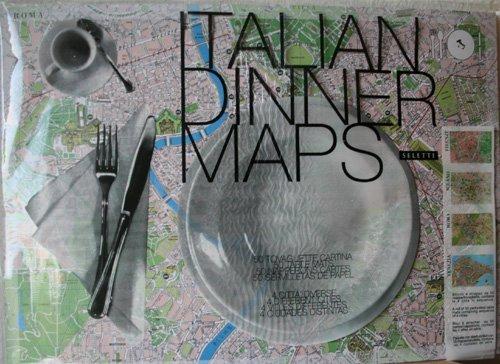 Italian Dinner Maps Papier-Tischsets