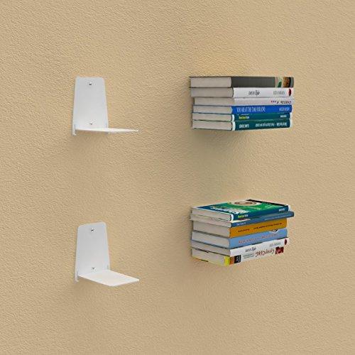 Reggilibri invisibile libreria mensola design per libri sospesi bianco
