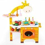 Unbekannt FEI Babyspielzeug Kinder Spielzeug Simulation Küche Kochen Holz Set für 3-5 Jahre alt Geburtstagsgeschenk Frühe Erziehung (Farbe : A)