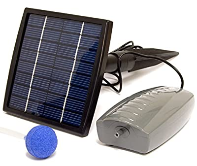 Woodside Solar Oxygenator Air Pump for Pond - 1.5W Aerator 1 Air Stone Oxygen Pump for Garden, Aquarium Fish Tank