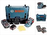 Bosch Professional GSS 18 V-10 Akku Schwingschleifer in L-Boxx + 2 x GBA 6,0 Ah Akku + GAL 1880 CV Schnellladegerät