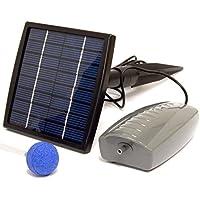 Woodside Pompe solaire à oxygène pour étangs 1 tête de diffusion