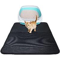 Ardermu Impermeable camada estera para gatos - Alfombra para camadas de capa doble con capa base impermeable - 27.6 x 21.7 pulgadas Fácil de limpiar ECO amigable Peso ligero para espuma EVA