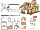 FantasyDay 10 pezzi acciaio inox Formine Biscotti/Stampi biscotti, Tema natalizio 3d Taglierine di biscotti per Decorazioni Natalizie - Professionale Teglie da forno e accessori per pasticceria #11
