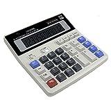 Aolvo grandi tasti del computer calcolatrice 12cifre calcolatrice Business per ufficio e casa, funzione standard tavolo calcolatrice con Dual Power