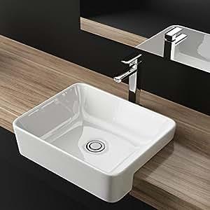 waschbecken24 design keramik einbau waschbecken waschtisch waschplatz f r badezimmer g ste wc. Black Bedroom Furniture Sets. Home Design Ideas