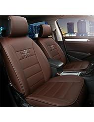 AMYMGLL Auto-Sitzabdeckung Whole Leder Standard Edition (7set) und Deluxe Edition (11set) Universal-Auto-Kasten Vier Jahreszeiten 5 Farben