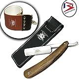 Rasage pour les hommes, Rasoir traditionnel barbier - acier inoxydable,...