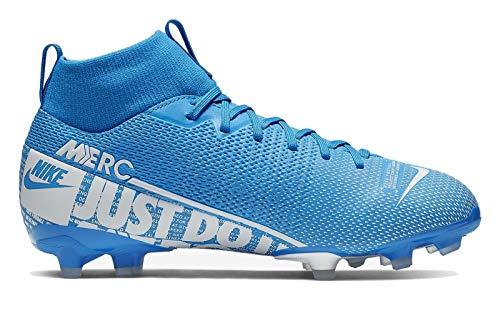 Nike Unisex-Kinder Jr Superfly 7 Academy Fg/mg Fußballschuhe, Mehrfarbig (Blue Hero/White/Obsidian 414), 36 EU (Kind, Fußball-stollen)