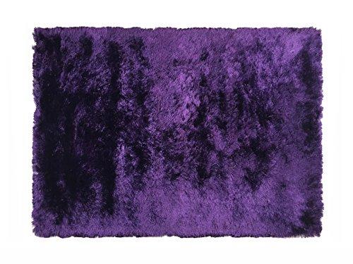 Alfombrista Shaggy Alfombra de Pelo Largo, Acrílico, Purpura, 70 x 140 cm