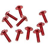 10x Tornillos Perno Decorativo de Marco Licencia de Coche Placa de Aluminio Cubierta 20mmx6mm Rojo