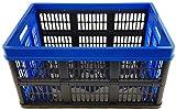 Tontarelli Profi Klappbox Tüv zert. 45 L bis 30 kg Blau Faltbox Box Kiste Einkaufskorb