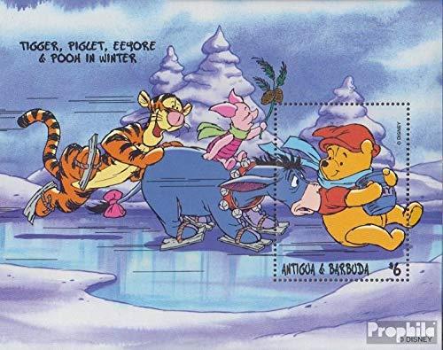 Prophila Collection Antigua und Barbuda Block393 (kompl.Ausg.) 1998 Walt-Disn.: Winnie-The-Pooh (Briefmarken für Sammler) Comics (Winnie The Pooh Sammler)