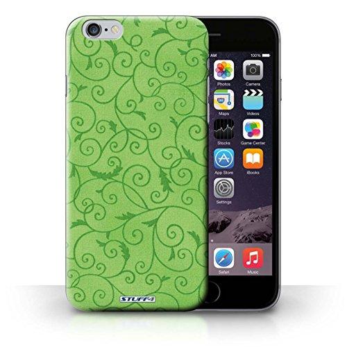 KOBALT® Hülle Case für iPhone 6+/Plus 5.5 | Rosa Entwurf | Vine Blumenmuster Kollektion Grün