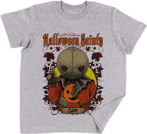 Halloween Saints Sam Kinder Jungen Mädchen Unisex T-Shirt Grau