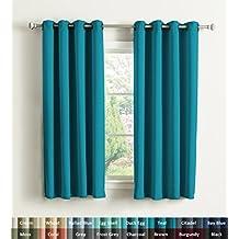 rideaux bleu turquoise. Black Bedroom Furniture Sets. Home Design Ideas