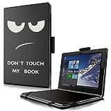 Lenovo Yoga Book Custodia Case- Infiland Slim Folio in pelle Ultra sottile e leggera Case Cover Custodia per Lenovo Yoga Book 25,65cm (10,1 pollici Full HD) 2-in-1 Tablet PC (Grandi Occhi)
