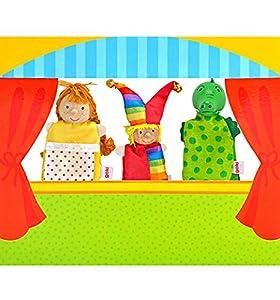 Goki 51590 - Teatro para Marioneta De Dedo I (Inc3 Muñecos) (+3 Años)