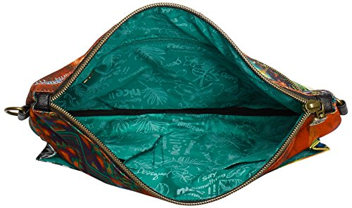 Desigual Bols clutch amazonas - Borsa da donna Multicolore (Multicolore  (4098 Balneario))