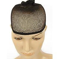 SHANF Perücke, elastisch, Strumpfkappe, zweilagig, spezielles Haar, Netz, Perückenkappe, hohe Dichte, Schwarz
