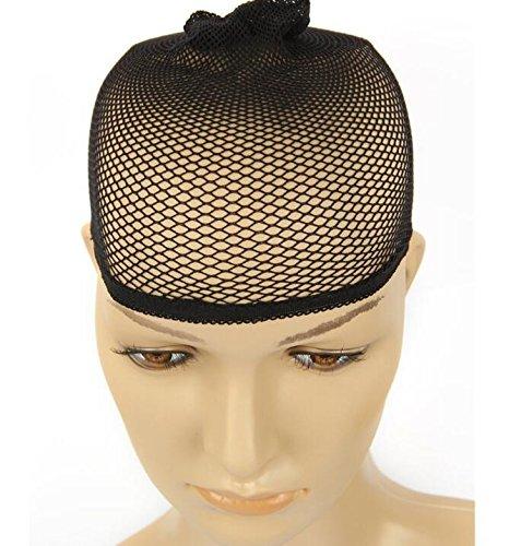 huertuer, elastische Spitze, two-pass-Perücke, mit Haarnetz,