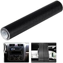 WINOMO 4D Vinilo Fibra de Carbono Adhesiva para Coche decoración Auto vehículo 30x300cm ...