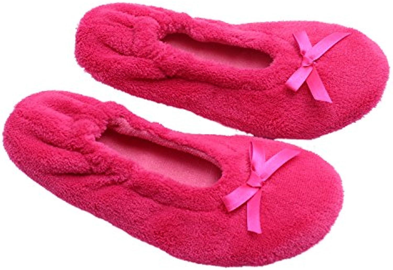 Ofoot Damen Hausschuhe, Pink - Rose - Größe: 36/37 EU