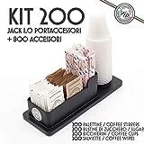 Kit Accesorios Café: 200 Vasos, Azúcar, Cucharillas + Envase cafe