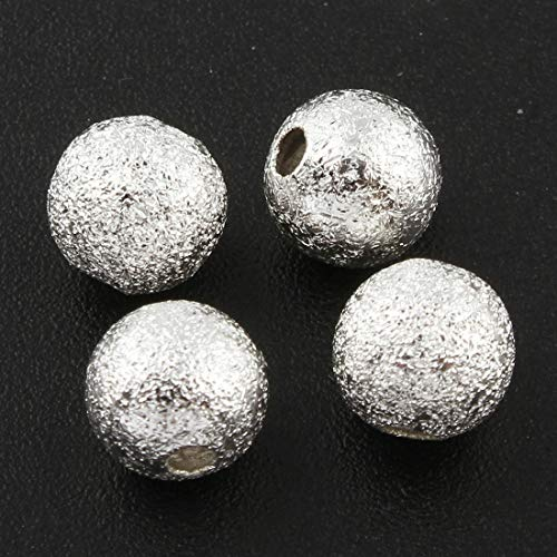 Metallperlen Stardust Silber Perlen Spacer 6mm Rund 50stk Schmuckperlen Schmuck Design M171 - Perlen Silber Perler