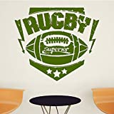 xingbuxin Rugby Sport Wandaufkleber Für Kinderzimmer Wohnzimmer Tapeten Aufkleber Vinyl Wandkunst...