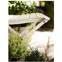 Durable-Sedia pieghevole per esterni, colore: bianco, 140 cm x 45 cm x 85 cm