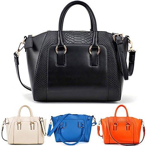 Jinyouju Fashion-Borsetta, Borsa a tracolla, borsa Messenger-Borsa a tracolla Nero (nero)