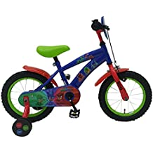 Bici Bicicletta Bambino PjMasks 16 Pollici con Ruotine Blu Rosso Verde