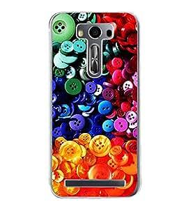 Colourful Buttons 2D Hard Polycarbonate Designer Back Case Cover for Asus Zenfone 2 Laser ZE500KL (5 INCHES)