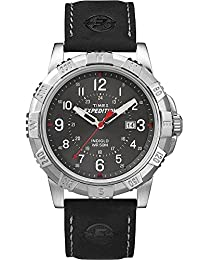 Timex Expedition Rugged Men's Quartz Watch with Black Dial Analogue Display and Black Leather Strap T49988